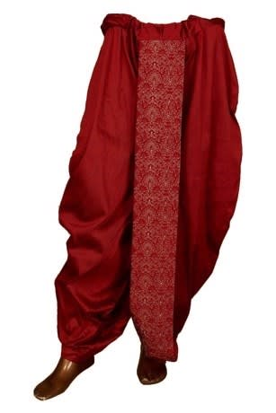 Maroon Dhoti for a perfect look