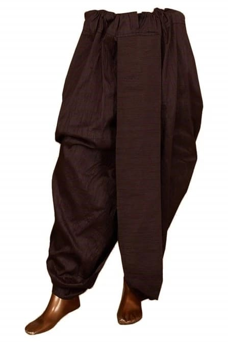 Traditional look with Black Dhoti