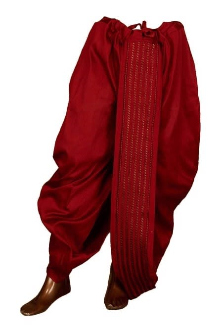 Attractive Maroon Dhoti for reception