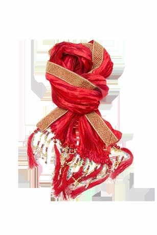 Maroon Bandanna  for an Indo-Western outfit