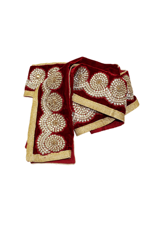 Maroon Bandanna  with intricate patterns