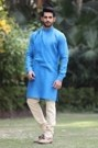 Modish Light Blue Kurta