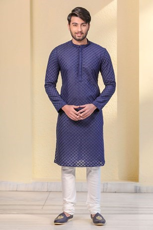Youthful Blue colored Kurta with Lower