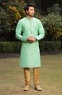 Fashionable Light Green Kurta Set