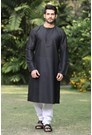 Black round neck kurta