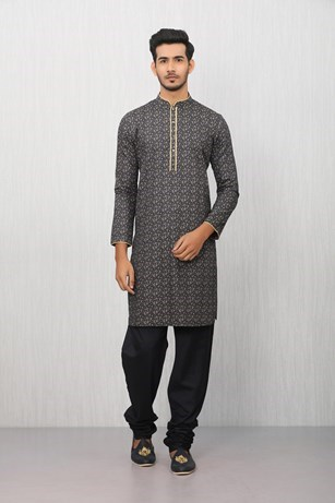 Simple And Elegant Blue Patterned Kurta
