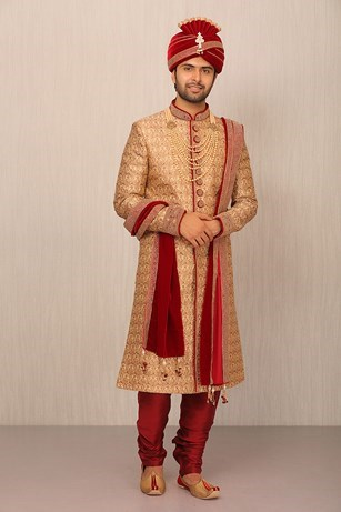 A Hue Of Beige In A Sherwani Set
