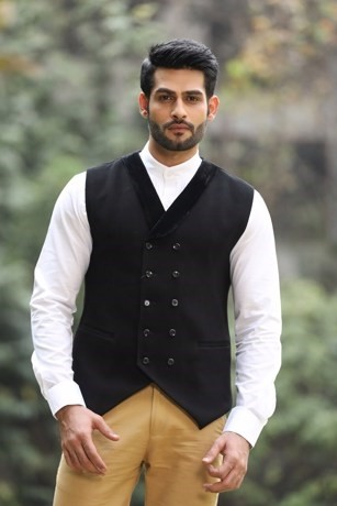 Alluring Black Waist Coat