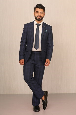 A Vibrant Indigo In A Suit Set