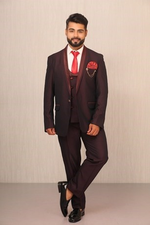 Stellar Wear, Classic Suit In Wine