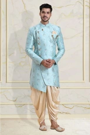 Attractive Blue Indo western wear