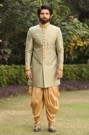 Light Green Indo-Western Set With Stone Detailing