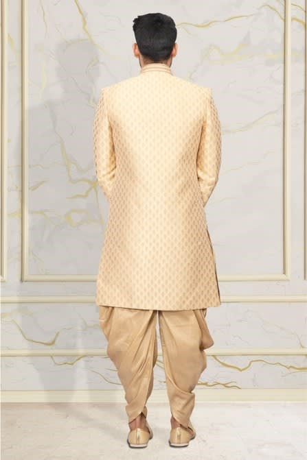 Fawn Patterned Indo-Western Set