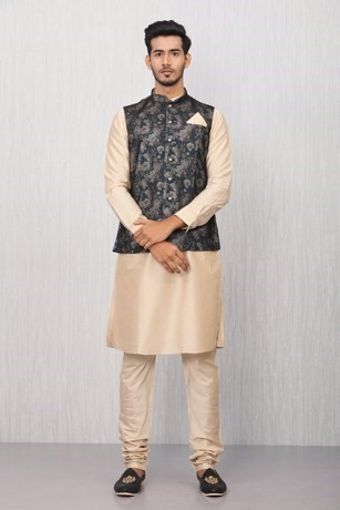 Fresh and Floral Kurta Jacket Set