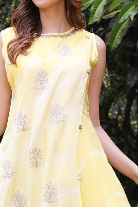 Flaming Yellow Gown