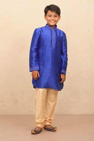 Festive Blue Kurta set for Kids