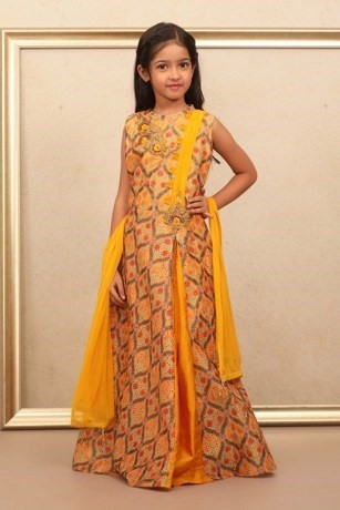 Festive Girl Child Yellow Gown