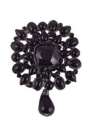 Trendy Black Brooch