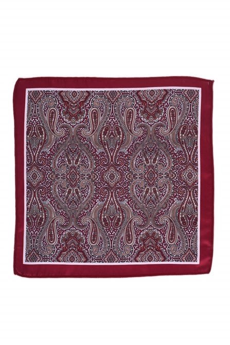 Fancy Maroon Printed Pock Square