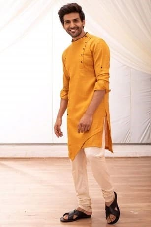 Asymmetrical Yellow  Kurta