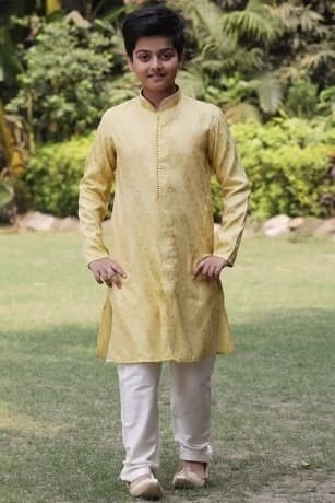 Traditional Yellow  Kurta