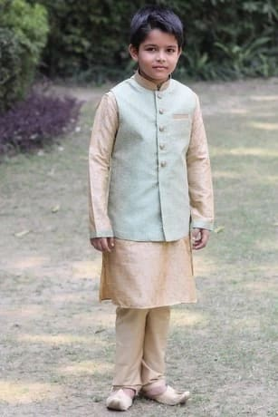 Perfect Light Green Jacket with Kurta Set