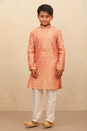 Fancy Pink Kurta Set for Kids