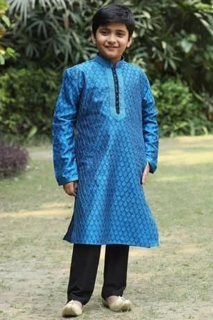 Elegant Blue Embroidered Kurta