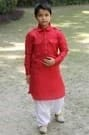 Jazzy Red Pathani