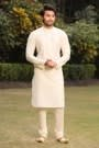 Trendy Light Cream Kurta Churidar