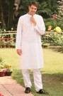 Elegant White Embroidered Kurta