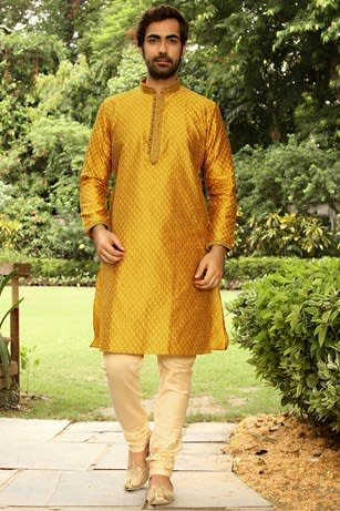 Yellow Luxurious Kurta Set