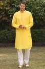A Simple Cotton Kurta with the Touch of Embroidery