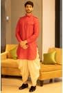 A Suave Red Pathani