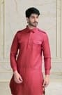 Suave Red Pathani