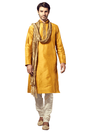 A Graceful Mustard Kurta Set