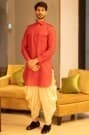 Flamboyant Dori Embroidered Kurta