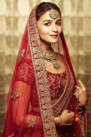 Beautiful ethnic Rani Pink Bridal Lehenga