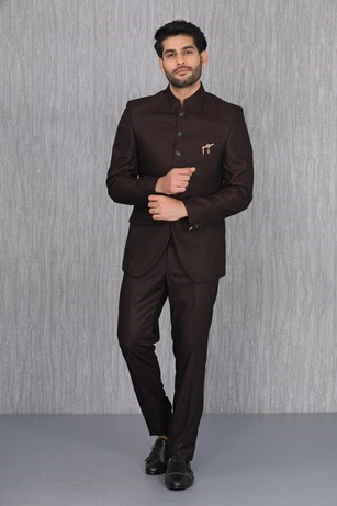 Peerless Wine Terry Rayon Suit