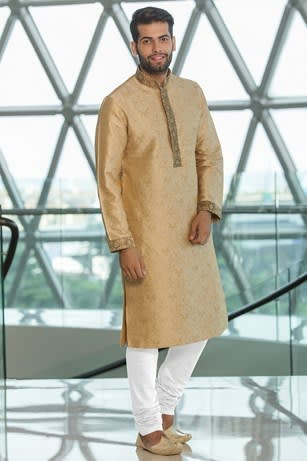 Classic Silk Jacquard Kurta Set for Festival