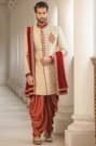 Perfect Indo-Western Outfit with the Touch of Maroon Zardozi Work