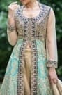 Refined Classic Light Blue and Turquoise Blue Embroidered Suit