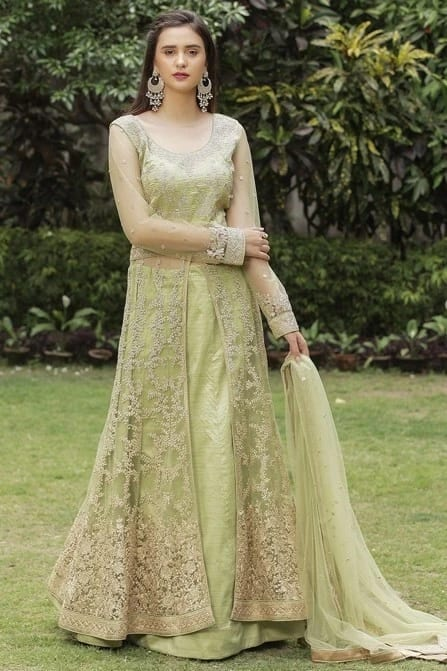 Classic Embroidered Green Suit