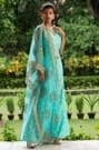 Sober Green Suit with Heavy Dupatta
