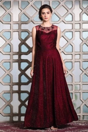 Classy Wine Gown