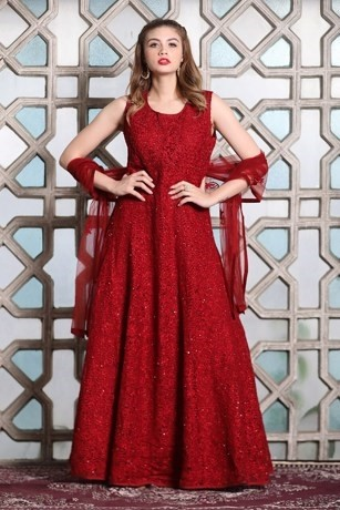Bold Maroon Gown