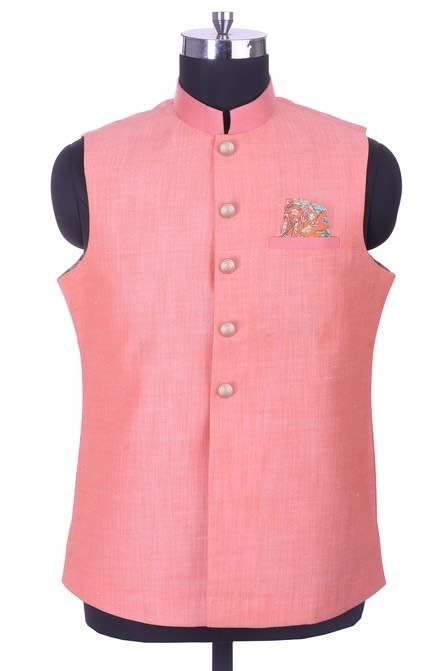 Traditional Waist Coat with the touch of stitch line