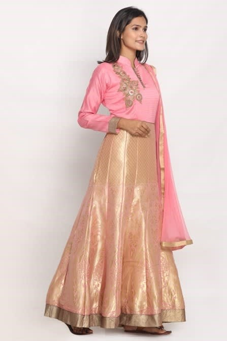 Traditional weave and hand embroidered suit
