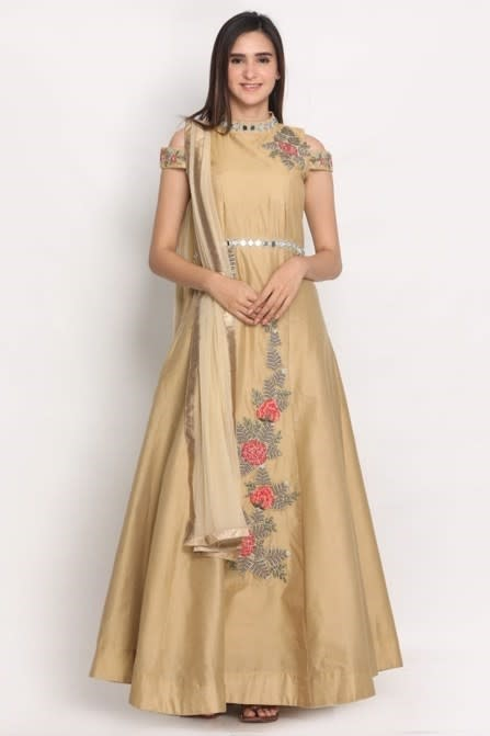 Stylish hand embroidered suit