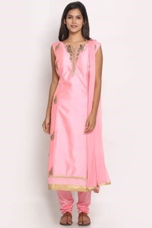 Royal pink stitched suit